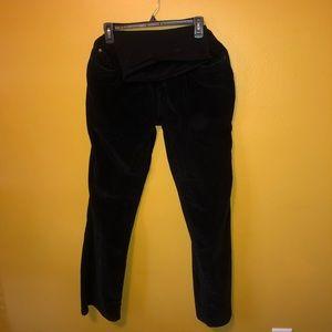 Motherhood Maternity Black Corduroy Pants, L